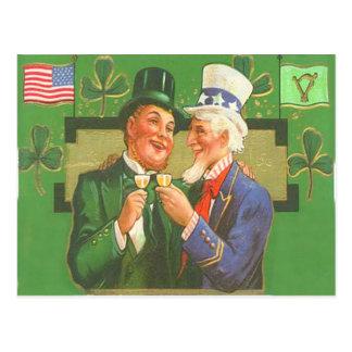 ヴィンテージの米国市民小妖精のセントパトリックの日カード ポストカード