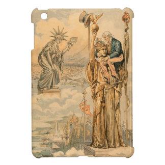 ヴィンテージの米国市民彫像の自由共和国のアンティーク iPad MINIカバー