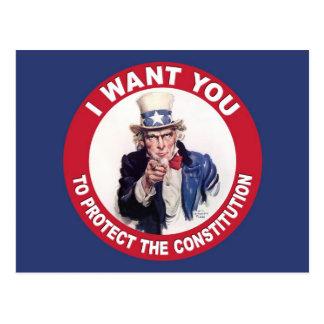 ヴィンテージの米国市民私は-憲法ほしいと思います ポストカード