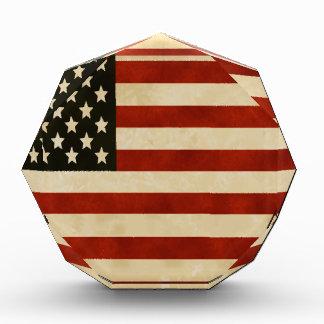 ヴィンテージの米国旗のギフト 表彰盾