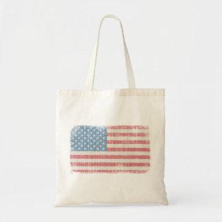 ヴィンテージの米国旗のトートバック トートバッグ