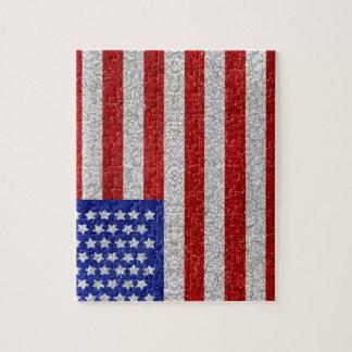 ヴィンテージの米国旗のパズル ジグソーパズル