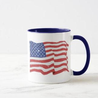 ヴィンテージの米国旗のマグ マグカップ
