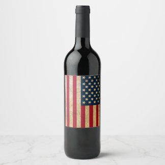 ヴィンテージの米国旗のワイン・ボトルのラベル ワインラベル