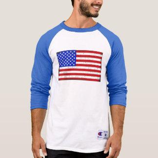 ヴィンテージの米国旗の人のTシャツ Tシャツ