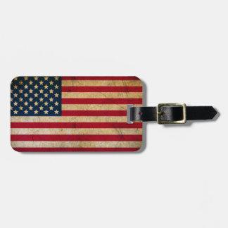ヴィンテージの米国旗の荷物のラベル ラゲッジタグ