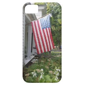 ヴィンテージの米国旗の電話箱 iPhone SE/5/5s ケース