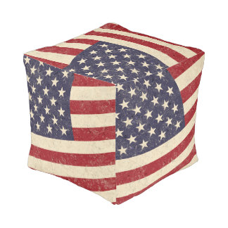 ヴィンテージの米国旗の7月4日BBQは古い栄光衰退しました プーフ