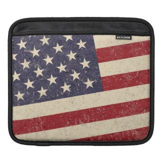ヴィンテージの米国旗の7月4日BBQは古い栄光衰退しました iPadスリーブ