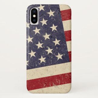 ヴィンテージの米国旗の7月4日BBQは古い栄光衰退しました iPhone X ケース