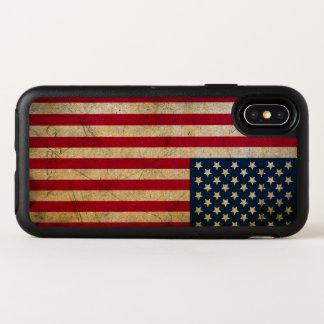ヴィンテージの米国旗のAppleのiPhone Xの場合 オッターボックスシンメトリー iPhone X ケース