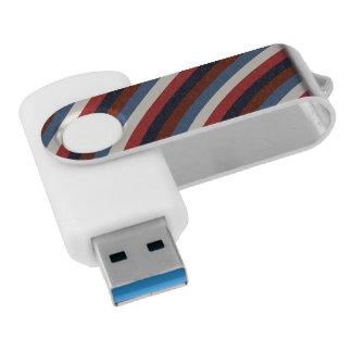 ヴィンテージの米国旗は縞で飾ります USBフラッシュドライブ
