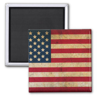 ヴィンテージの米国旗2インチの正方形の磁石 マグネット