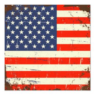 ヴィンテージの米国旗 カード
