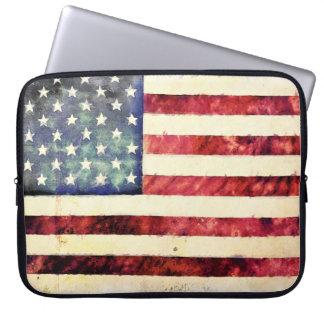 ヴィンテージの米国旗 ラップトップスリーブ