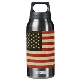 ヴィンテージの米国旗 断熱ウォーターボトル