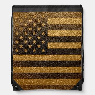 ヴィンテージの米国旗#2 ナップサック