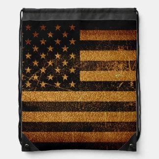 ヴィンテージの米国旗#4 ナップサック