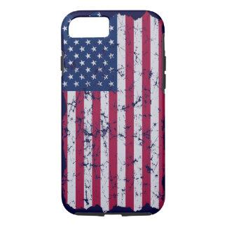 ヴィンテージの米国旗 iPhone 8/7ケース