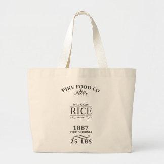 ヴィンテージの米袋 ラージトートバッグ