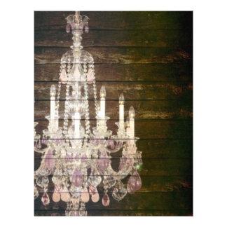 ヴィンテージの納屋の木製のシャンデリアの結婚式 レターヘッド