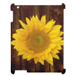 ヴィンテージの納屋木国のヒマワリ iPadケース