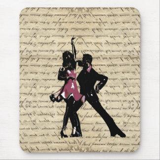 ヴィンテージの紙の社交ダンスのダンサー マウスパッド