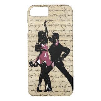 ヴィンテージの紙の社交ダンスのダンサー iPhone 8/7ケース