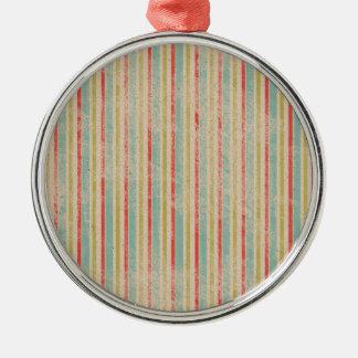 ヴィンテージの素朴なビーチの夏は縞で飾ります メタルオーナメント