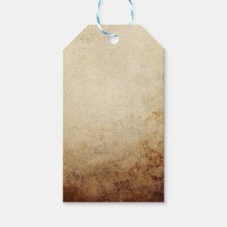 ヴィンテージの素朴なペーパー質の錆ブラウン ギフトタグ