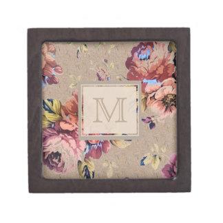 ヴィンテージの素朴な花柄 ギフトボックス