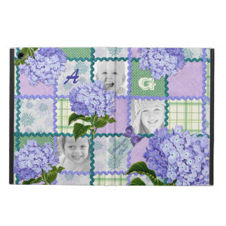 ヴィンテージの紫色のアジサイのInstagramの写真のキルト iPad Airケース