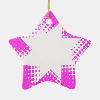ヴィンテージの紫色のハーフトーンの星 セラミックオーナメント