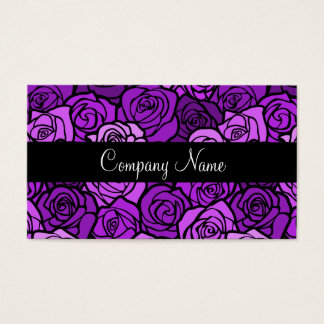 ヴィンテージの紫色のバラの名刺 名刺