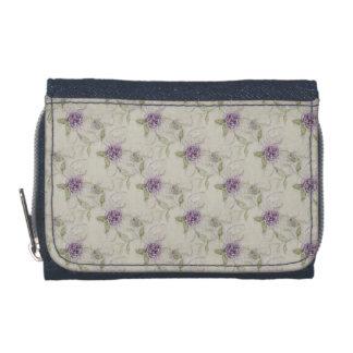 ヴィンテージの紫色のバラの札入れ ウォレット