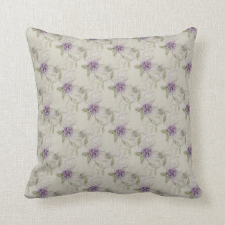 ヴィンテージの紫色のバラの枕 クッション