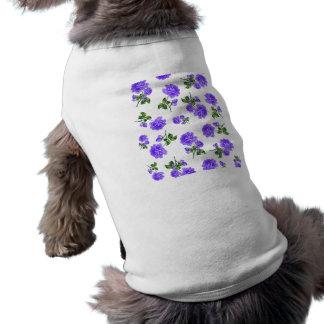 ヴィンテージの紫色のバラ ペット服