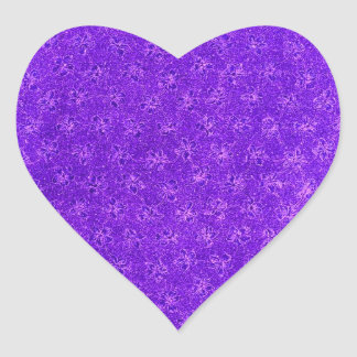 ヴィンテージの紫色のブドウのバイオレットのハートのステッカー ハートシール