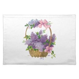 ヴィンテージの紫色のライラックの旧式な花の花束 ランチョンマット