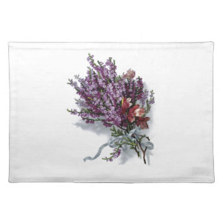 ヴィンテージの紫色の花束のランチョンマット ランチョンマット
