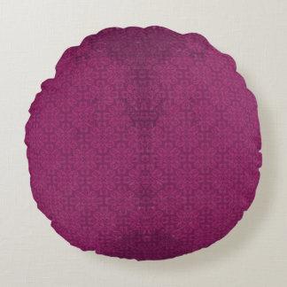 ヴィンテージの紫色の花柄の花の円形の装飾用クッション ラウンドクッション