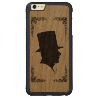 ヴィンテージの紳士のシルエット CarvedチェリーiPhone 6 PLUSバンパーケース