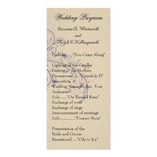ヴィンテージの結婚式プログラム ラックカード