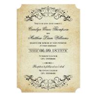 ヴィンテージの結婚式招待状 のエレガントな華麗さ
