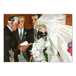 ヴィンテージの結婚式、新郎新婦RSVP 8.9 X 12.7 インビテーションカード