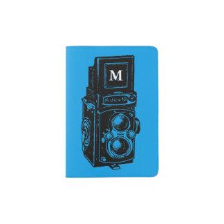 ヴィンテージの絵のカメラ1のモノグラムのパスポート パスポートカバー