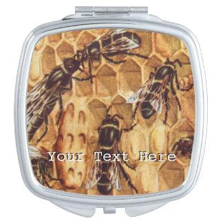 ヴィンテージの絵、はちの巣の蜂