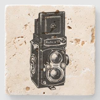 ヴィンテージの絵TLRのカメラの石のコースター ストーンコースター