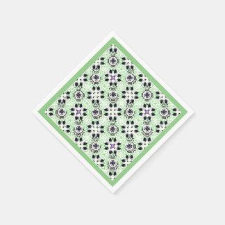 ヴィンテージの緑のカクテルのスタイルの紙ナプキン スタンダードカクテルナプキン