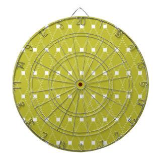ヴィンテージの緑のダイヤモンドパターン ダーツボード